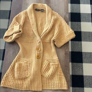 Sweaters - Mustard yellow cardigan/sweater